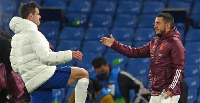 Eden Hazard and Azpilicueta