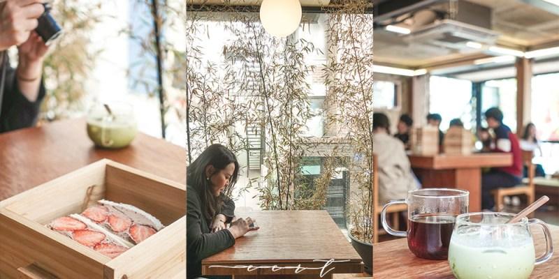 首爾咖啡 Eert,三層木盒下午茶,日式庭院風咖啡廳