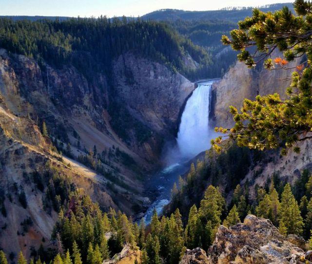 Yellowstone National Park Wyoming Water Fall