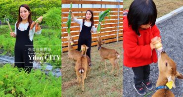 宜蘭新景點》跟可愛小鹿互動!張美阿嬤農場,餵梅花鹿、拔紅蘿蔔超有趣~