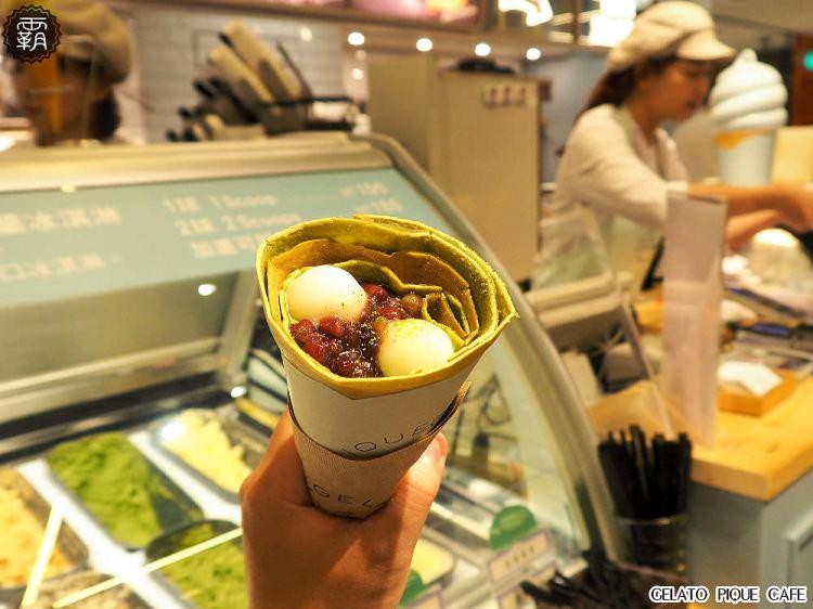 <台中甜點> gelato pique cafe台中店開幕囉~日本法式可麗餅屋就在新光三越,與辻利茶舗聯名推出抹茶口味可麗餅啦!(新光三越美食/台中可麗餅/台中新光美食)
