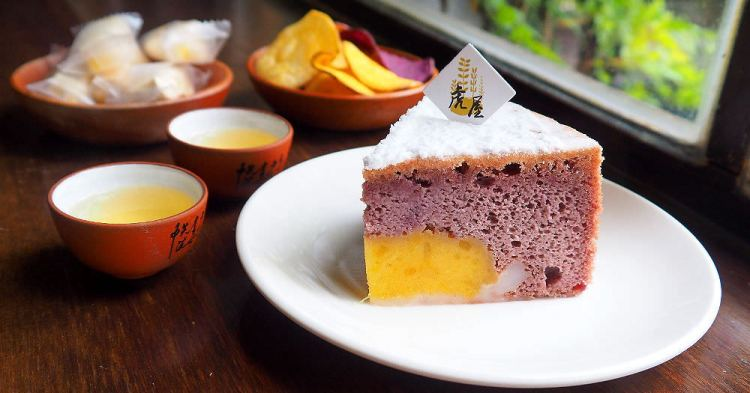 <雲林虎尾> 虎屋地瓜糕點專賣,雲林虎尾特產地瓜變成精緻糕點,獨特紫薯米蛋糕鬆綿香甜,古屋內享用下午茶89元起~(雲林伴手禮/雲林下午茶/邀約)