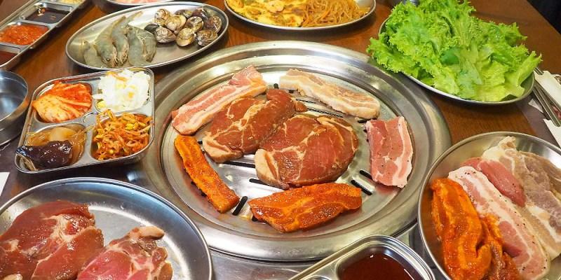 <台中燒烤> 阿豬媽韓式烤肉火鍋吃到飽,中友商圈韓式烤肉,多達40種食材還有韓國老闆醃漬醬肉!(台中烤肉吃到飽/台中韓國料理/邀約)