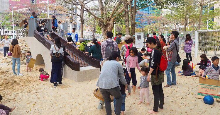 <台中公園> 文心森林公園,少見木珠溜滑梯,遊戲區多項設施超適合溜小孩!