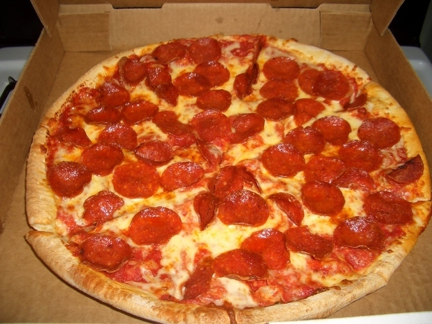 FOUR WORDS: PITS OF PEPPERONI GREASE.