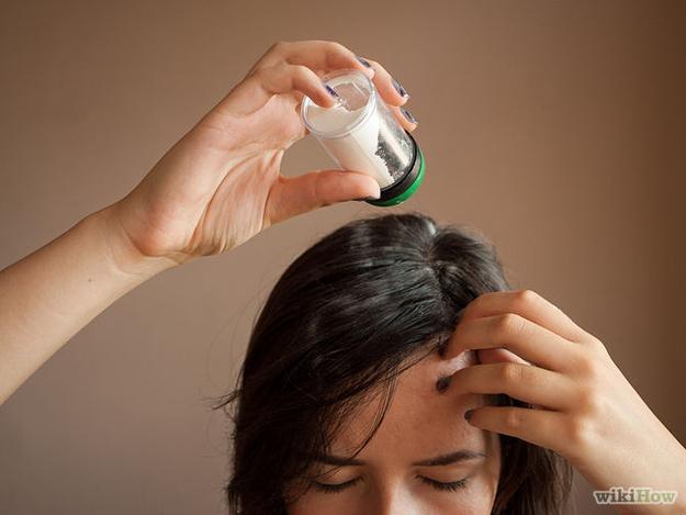 Apply dry shampoo the night before.