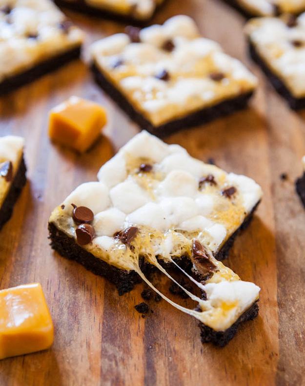 Marshmallow Caramel Oreo Cookie S'mores Bars
