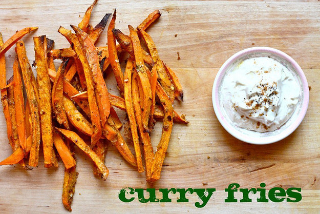 Baked Curry Sweet Potato Fries