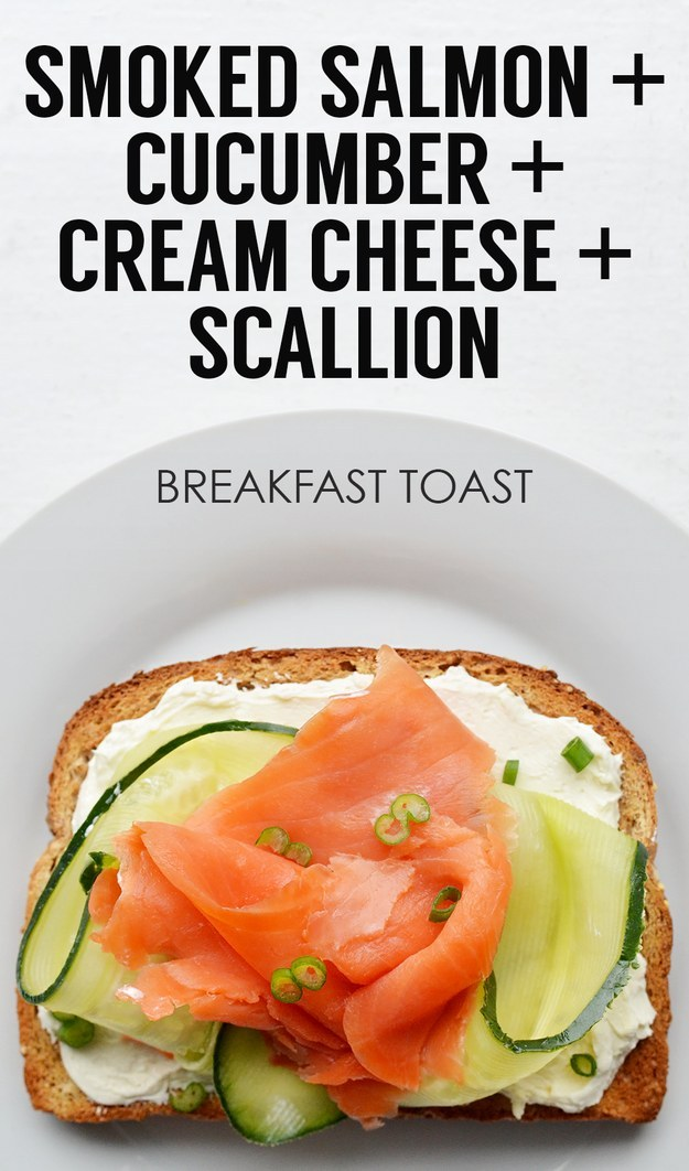 Smoked Salmon + Ribboned Cucumber + Light Cream Cheese + Scallions