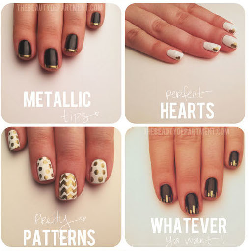 Use A Gold Sharpie To Make All Kinds Of Easy Designs