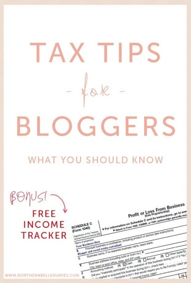 If you make money from your blog in any way, figure out if you should be filing for self-employment taxes.