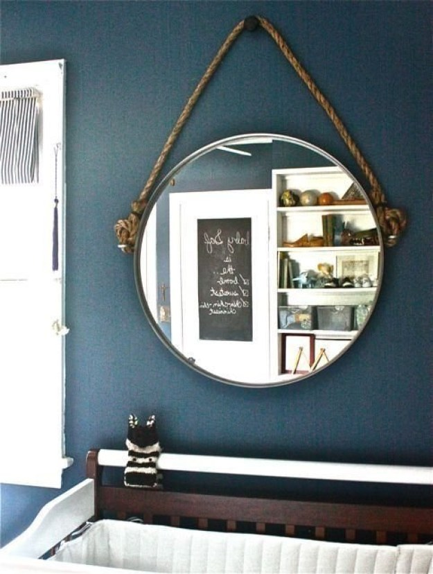 This Ikea hack mirror will class up any powder room.