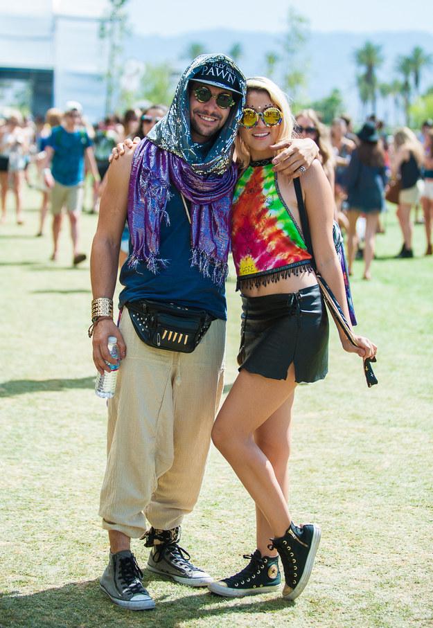 This tie-dye-rific couple.