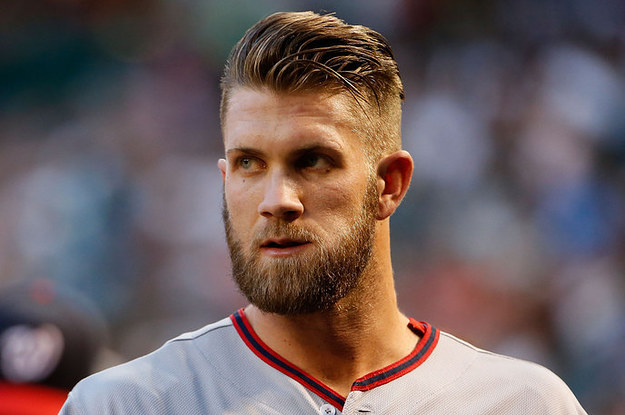 1 Slicked With Undercut Bryce Harper Style
