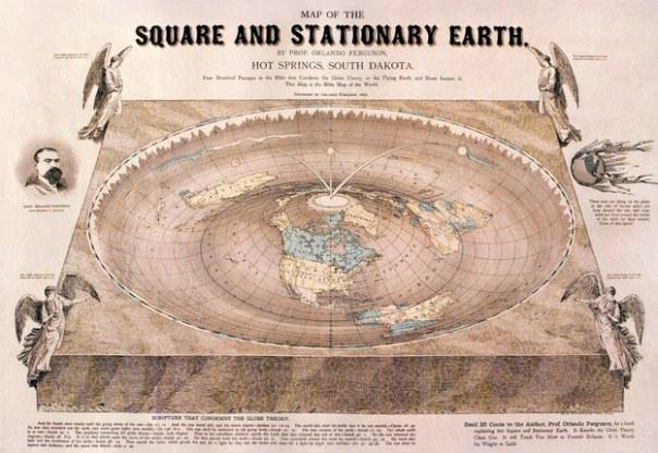 ¿Cómo funcionaría un mundo plano?