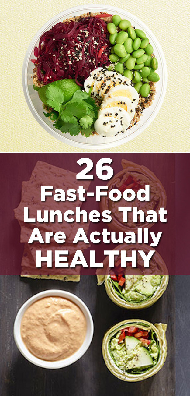Healthy Fast Food Lunch