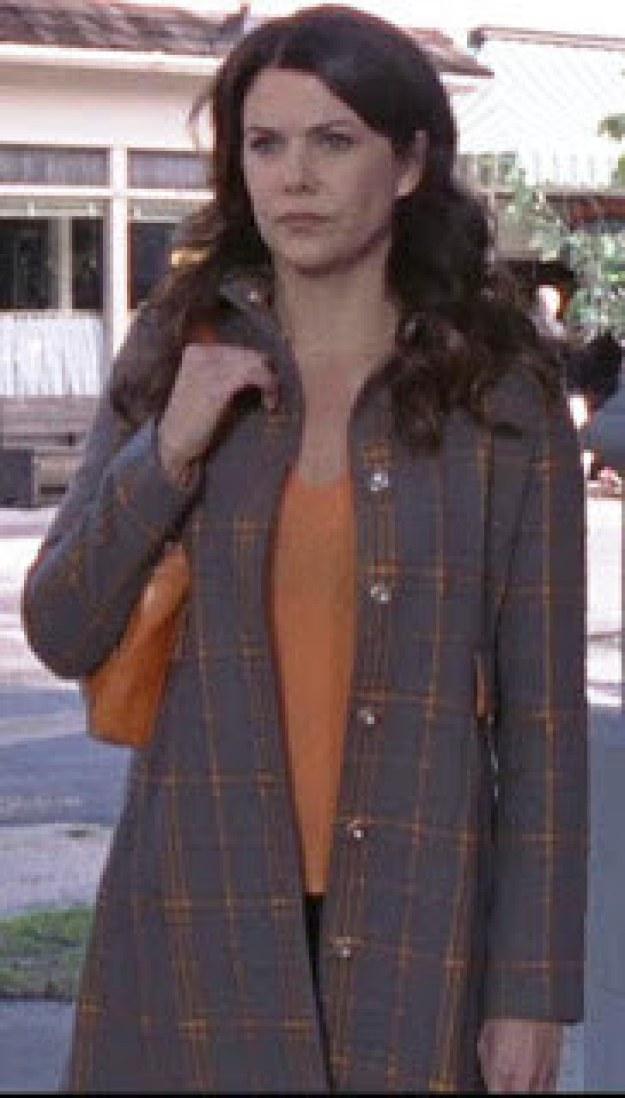 Orange Plaid Trench (Season 6)