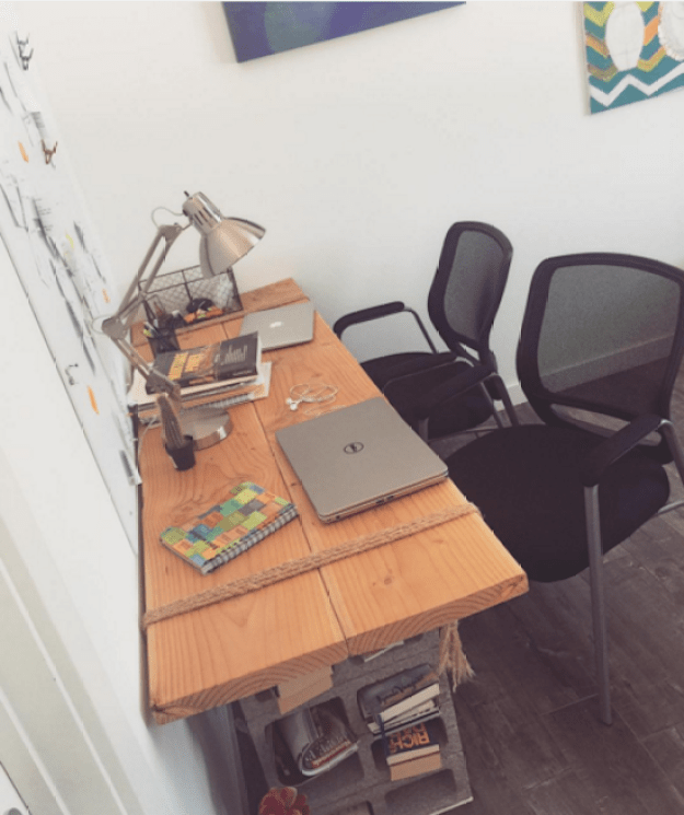 If you work in an office, try to make sure your desk isn't in a high-traffic area.