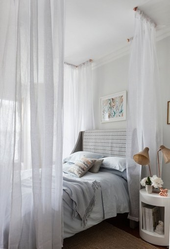 14 DIY Canopies You Need To Make For Your Bedroom If you don t have any curtain rods lying around  use some copper pipe