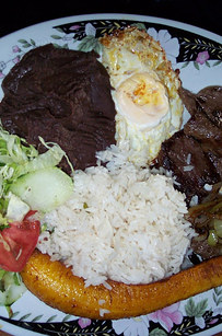 Typical food in Costa Rica, Casado