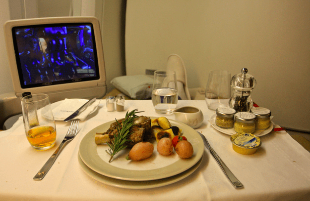 Dinner in first class: