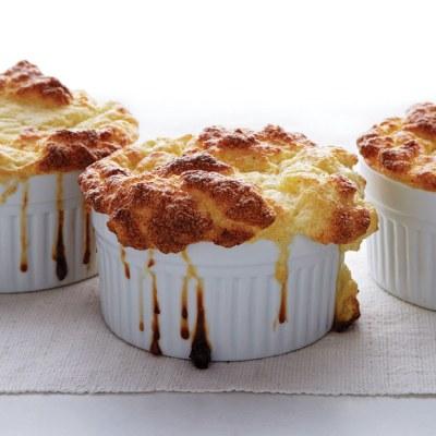 Cauliflower And Goat Cheese Soufflés