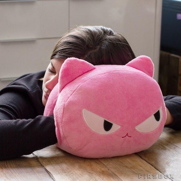 La perfecta almohada para echar una siesta gatuna.