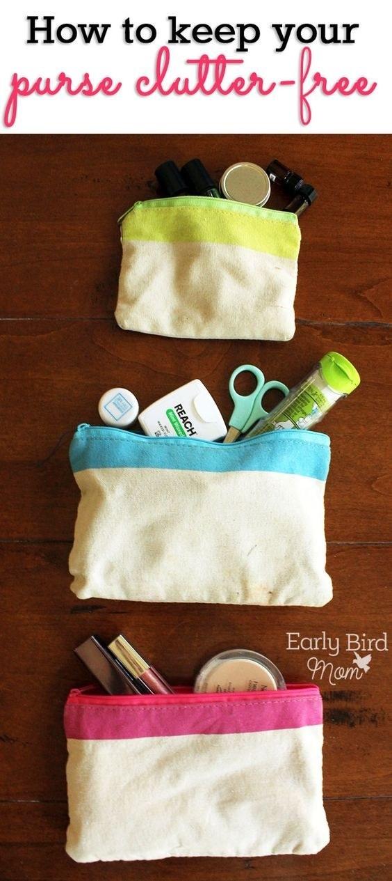 Abre tu bolso y haz lo mismo: tira la basura.
