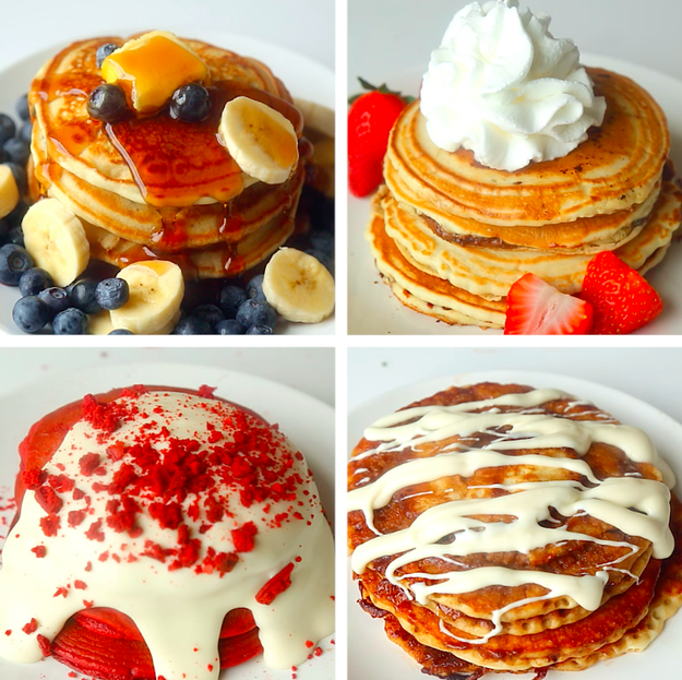 Is FOUR stacks of pancakes: