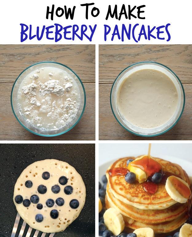 1. Blueberry & Banana Pancakes