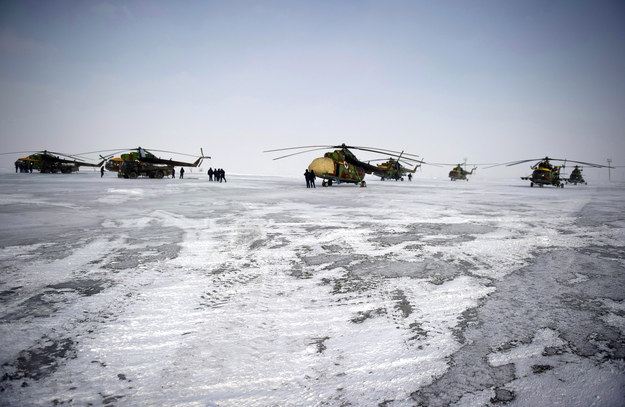 Then, each astronaut will be loaded into their own helicopter and flown to an airport in Dzhezkazgan, Kazakhstan.