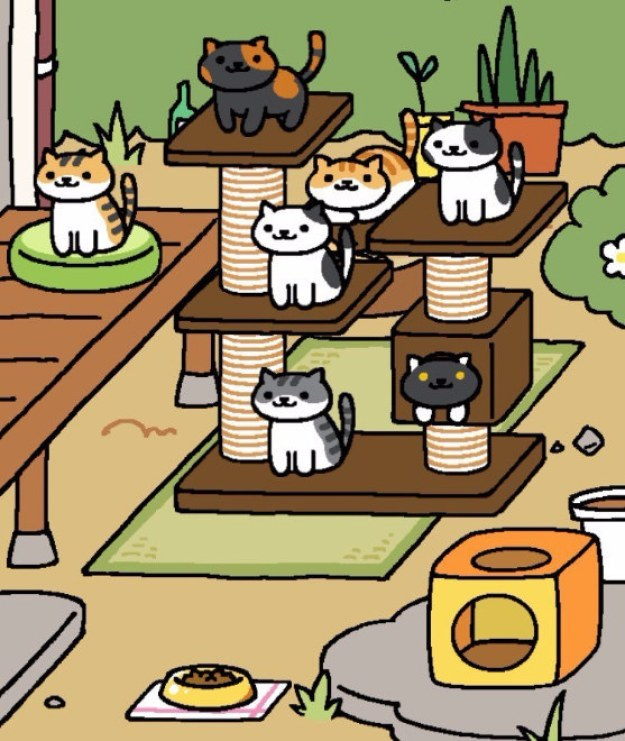 Fact: Neko Atsume (free, iOS and Android is *the* most epic cat app ever invented.