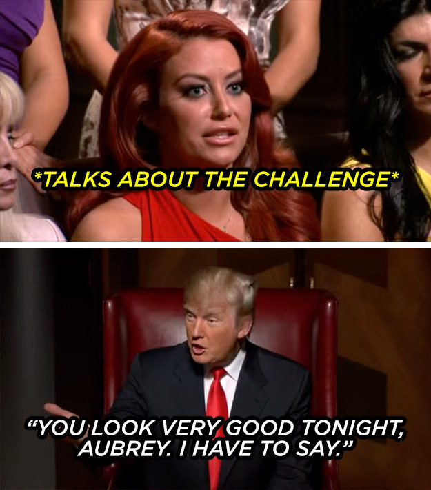 The time he very presidentially interrupted pop singer Aubrey O'Day to comment about her appearance.