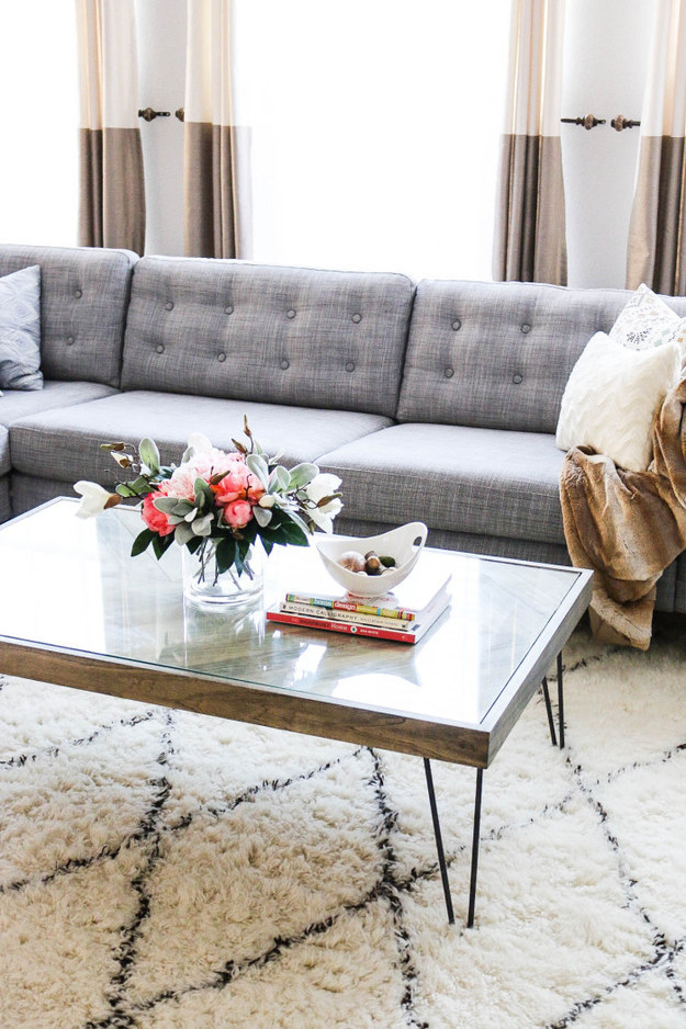 Upgrade your couch with tufting.