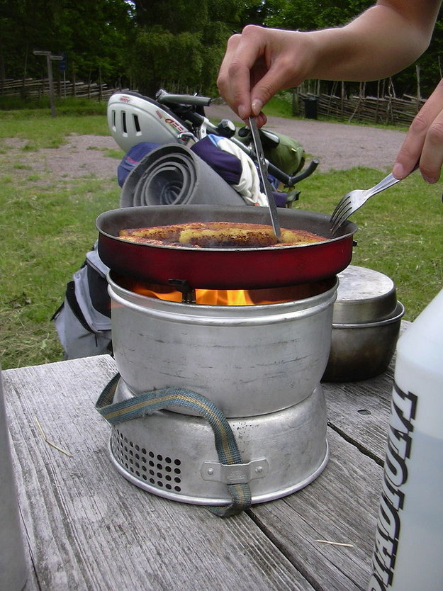 You're pretty good at cooking romantic meals for two on a camping stove.