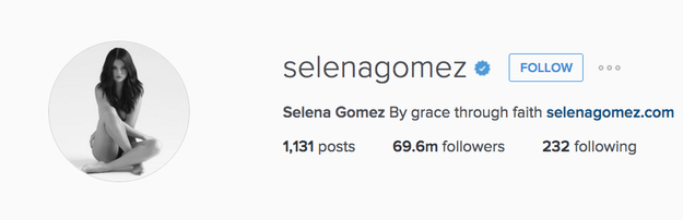 Come one, come all. Gather round and let me tell you a-something about Selena Gomez. The same Selena Gomez that has 69 MILLION PEOPLE THAT FOLLOW HER ON INSTAGRAM.