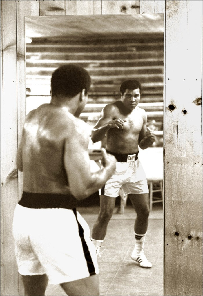 Mirror-boxing at Deer Lake, 1978.