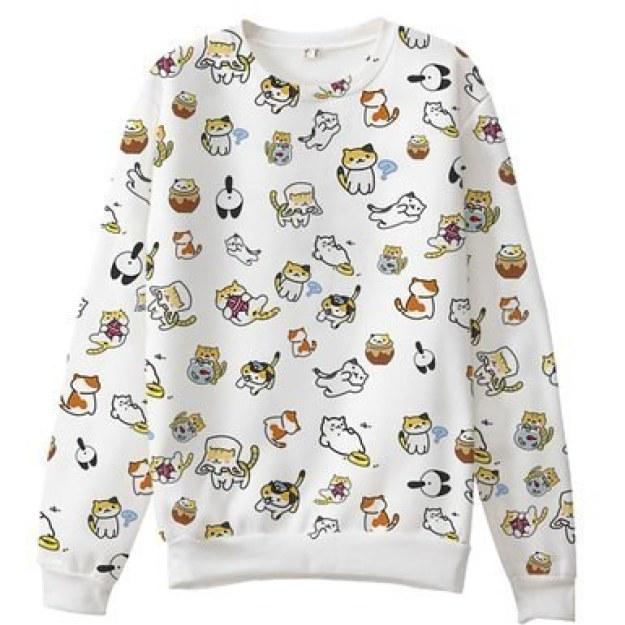 This incredible all-over print sweatshirt ($25)