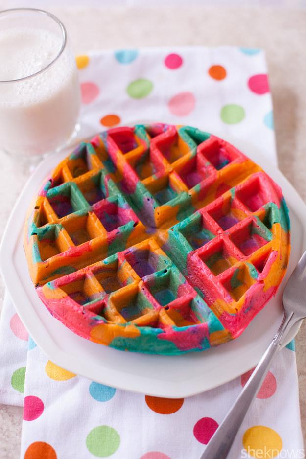 Tie-Dye Waffles