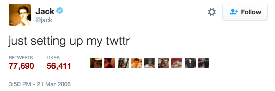 10 years ago, TO THE DAY, the first-ever tweet was sent out...