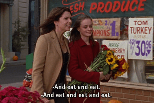Lorelai and Rory take their eating very, very seriously.