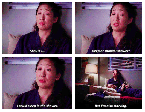 When Cristina contemplated this eternal question.