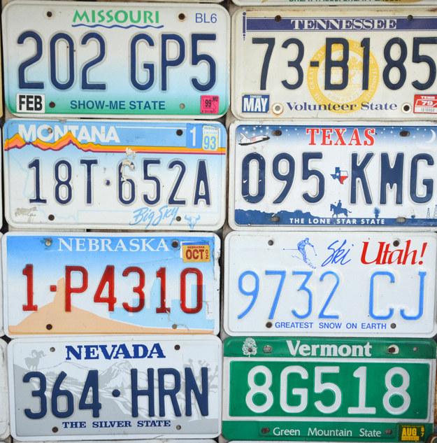 Memorize these 8 license plate combinations. Then take the quiz below! No peeking!