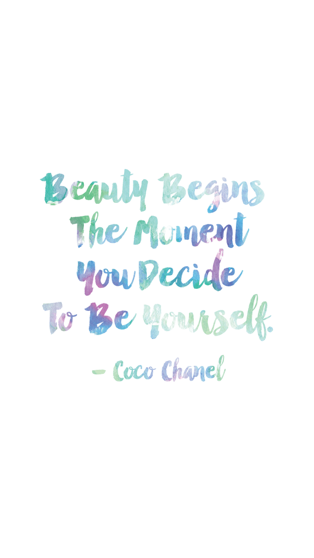 This glamorous guidance from Coco Chanel: