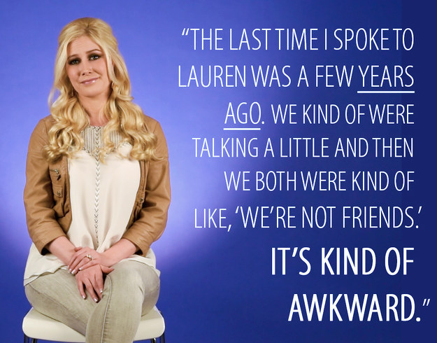 When was the last time you spoke to Lauren?