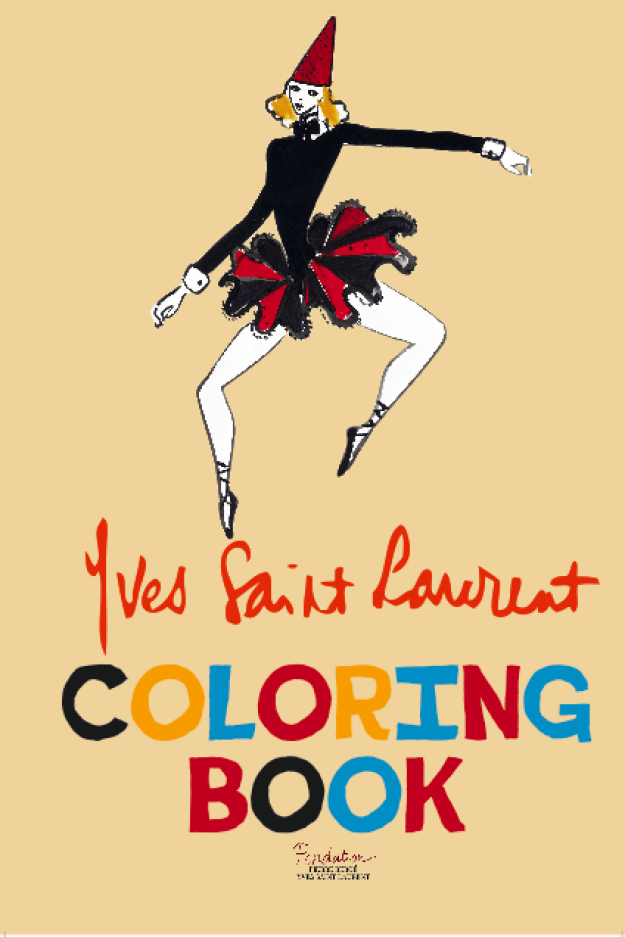 Then meet your new BFF: The Yves Saint Laurent coloring book.
