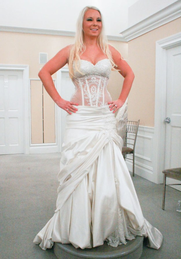 Would I find a dress I loved in my size? Would I leave feeling terrible about myself? Would they need to bring Pnina Tornai out from whatever room they keep her in so she can save the day with a $10,000 see-through corset dress?