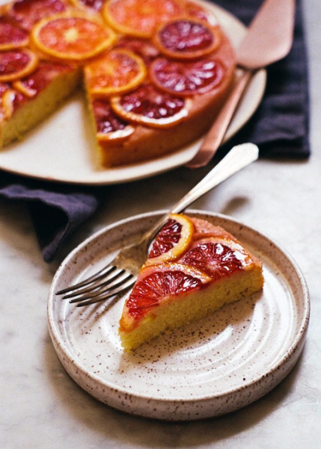 Blood Orange, Cornmeal, and Ricotta Cake