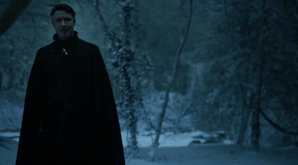 This is the only shot of Littlefinger we get in the entire trailer, but at least it tells us he's back in the North.