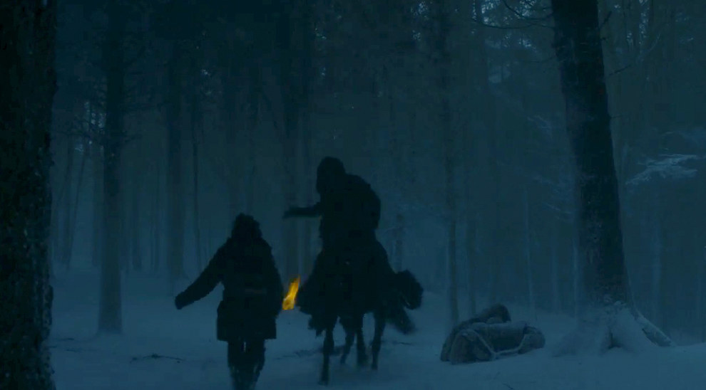 And this is one of the only shots in the whole trailer where we can't identify the subjects. Night's Watch? Wilding? Bolton? Other?